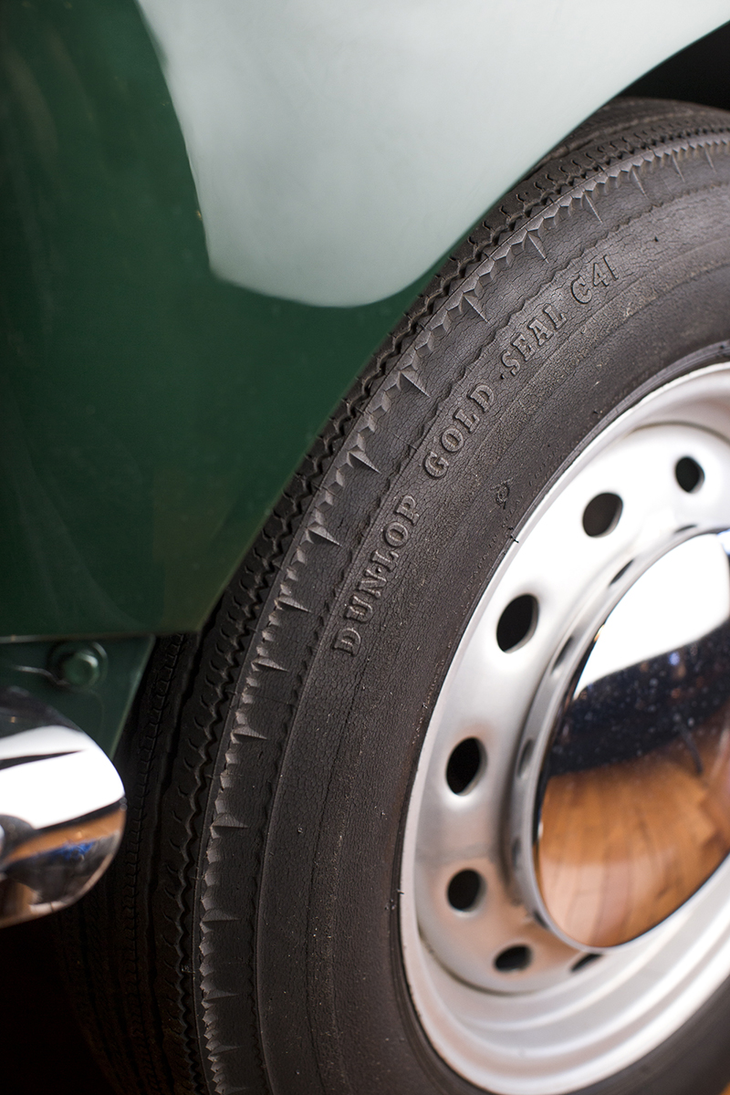The original tires for our fully restored 1963 MGB Roadster