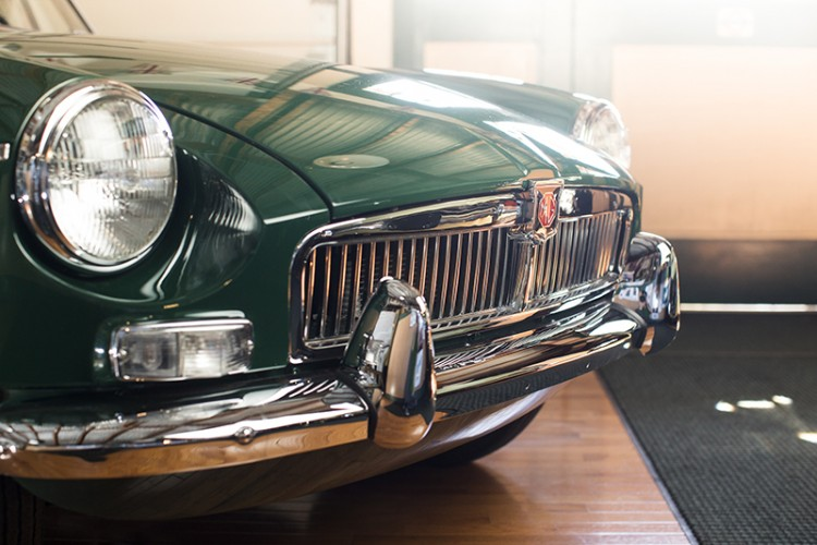 1963 MGB chrome bumpers