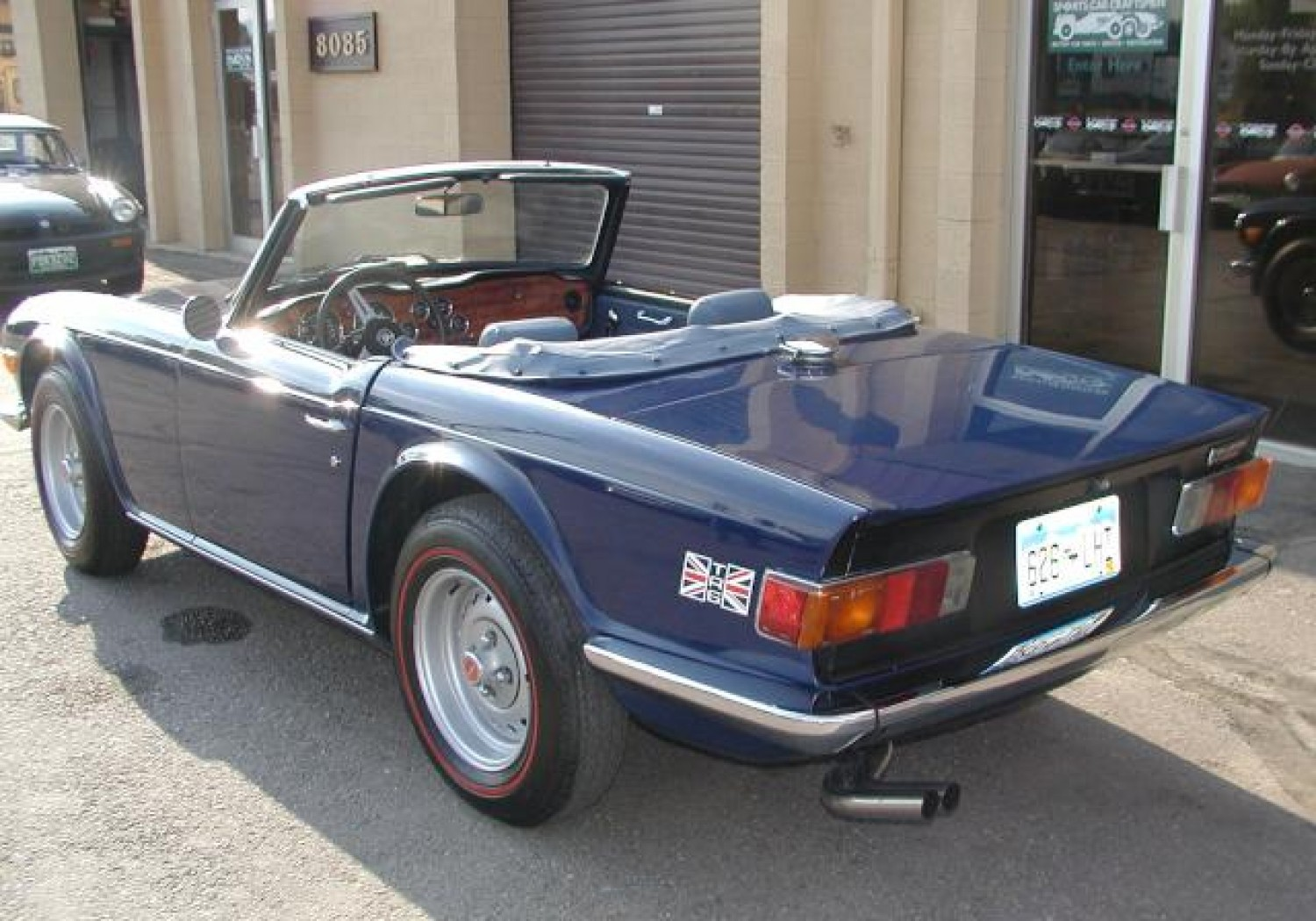 Blue TR6 Convertable